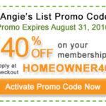 Angies list promo code 2016-2017