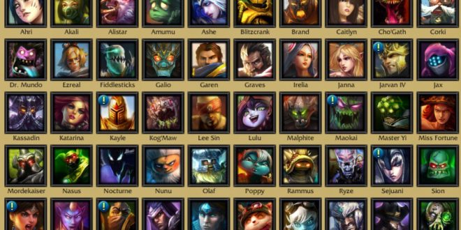 List of league of legends champions