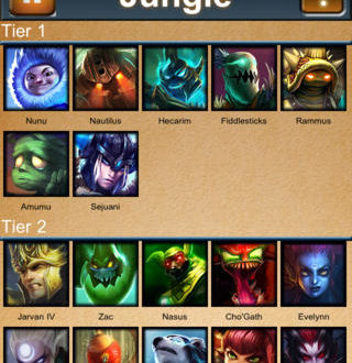 Jungle tier list and League tier list 6.17