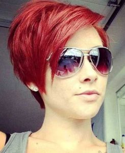 Red Hair Easy Pixie Haircut