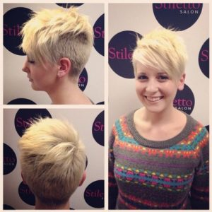 Shaved Haircut for Short Blond Hair