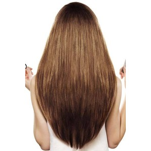 U-shaped hair cutting girls
