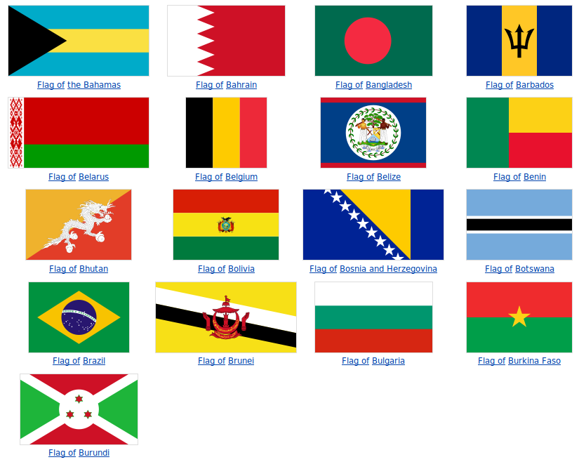 Letter Countries Flags