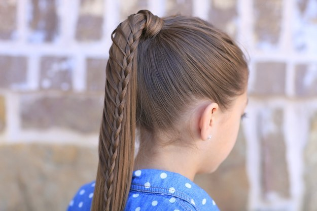 Slicked-Back Ponytail Easy Hairstyle