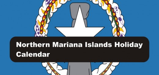 List of government holidays in Northern Mariana Islands 2017