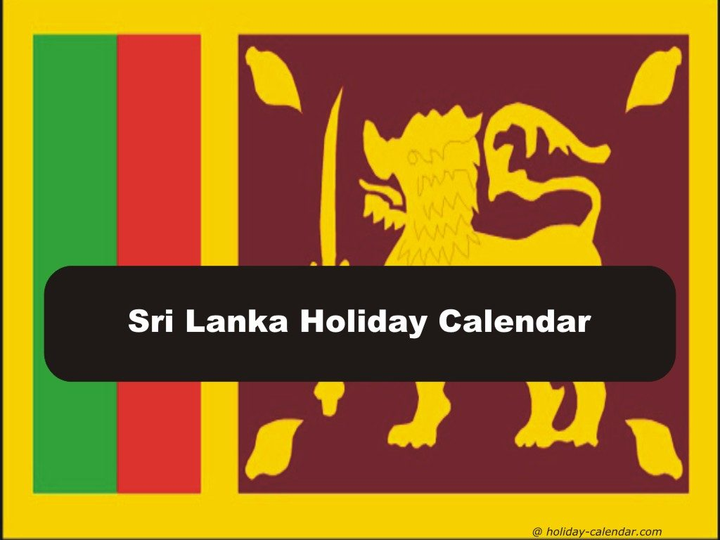 Public Holidays in Sri Lanka 2017