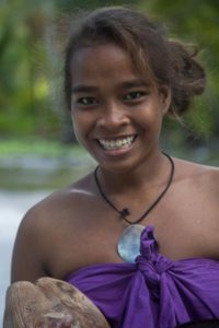 Beautiful girls in Kiribati