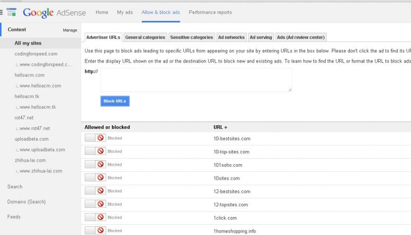 List of LOW CPC ads For Blocking Advertiser URLs