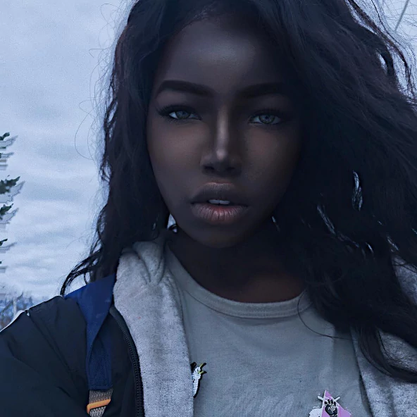 Shocked to see black African American model beauty