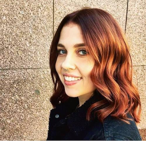 copper hair color for shoulder length hair