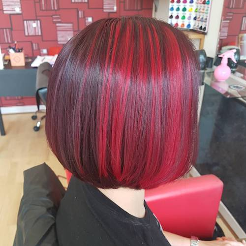 red velvet bob hairstyle