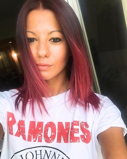 red velvet straight balayage hair color