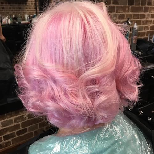 cotton candy bubble gum hair color
