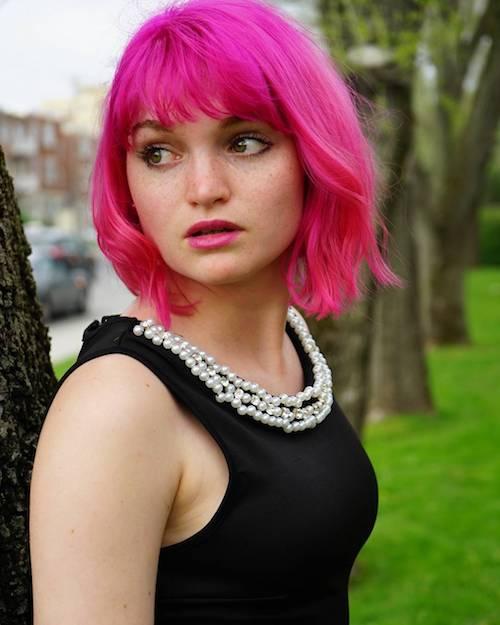 hot pink bob hair color