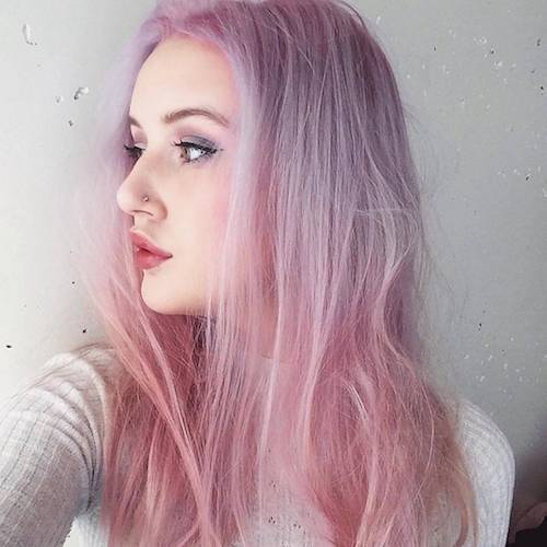 long bubble gum hair color