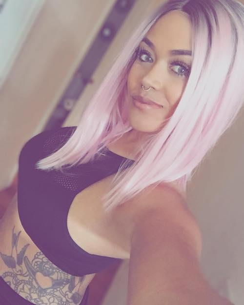 medium bubble gum hair color