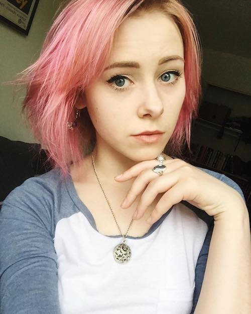 short pastel pink hair color