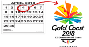 Commonwealth Games 2018 schedule