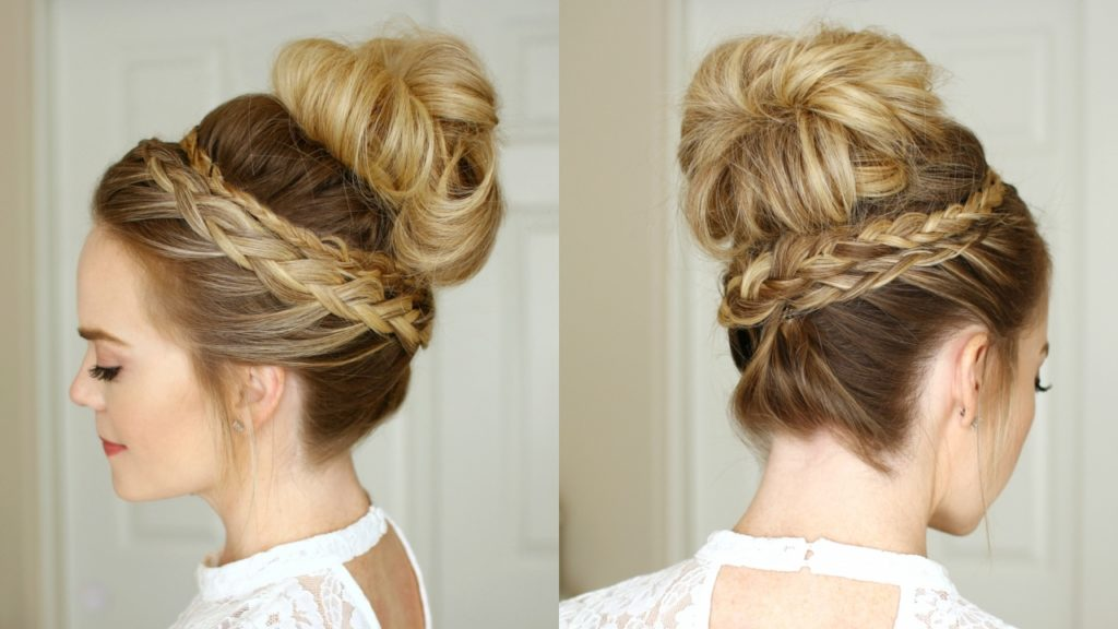 High-Bun-with-Braid