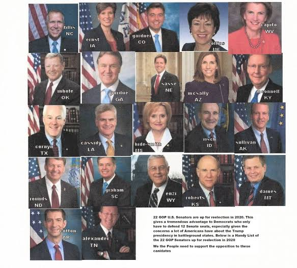 List of republican senators up for reelection in 2020
