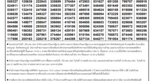Today Thai Lottery Result 1 November 2020 - วันนี้ผลลอตเตอรี่ไทย 1 พฤศจิกายน 2563